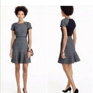 J Crew flutter dress- grey/black checkered print